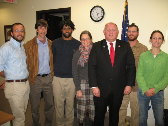 Young PA Farmers pay their Congressman a visit on Behalf of Beginning Farmers