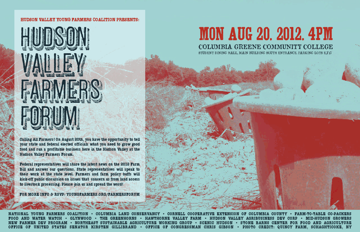 Hudson Valley Farmers Forum flyer