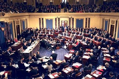 US Senate in session