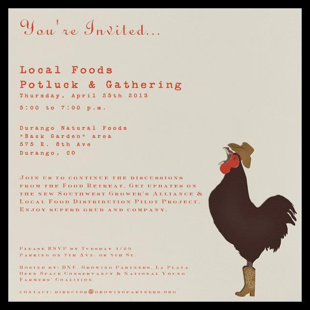 Durango potlock invite
