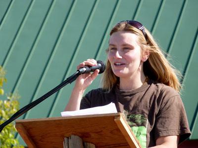 Sarah Smith of Grassland Organic Farm, photo courtesy of MOFGA
