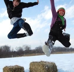 Awesome Farm jumping for joy