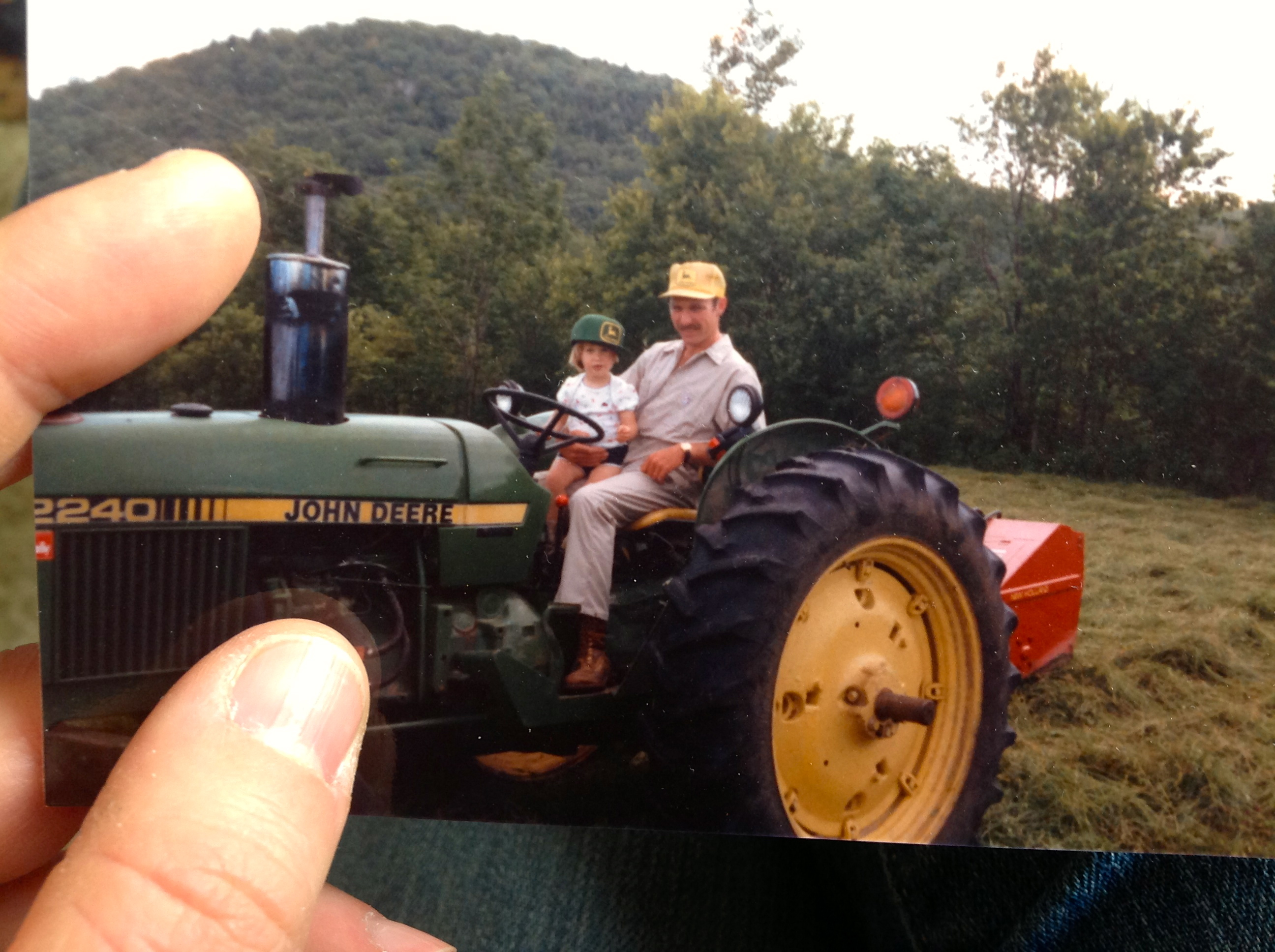 Corse Family Farm - old photo on the tractor
