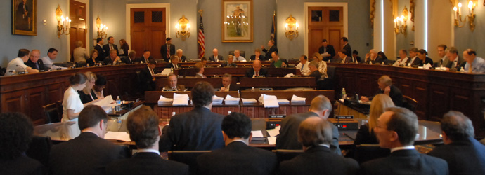 A House Agriculture Committee meeting, photo courtesy of Ag Committee web site.
