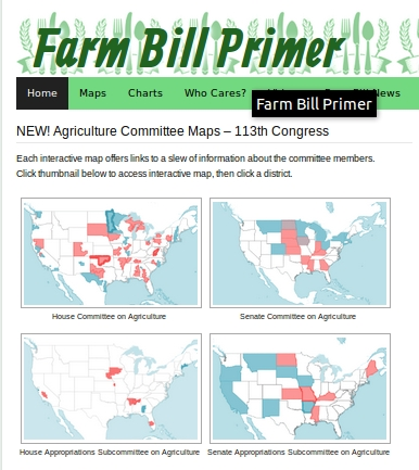 FarmBillPrimer.org ag committee maps