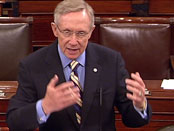 Senator Reid on the Senate floor.  Photo courtesy of Senate website.
