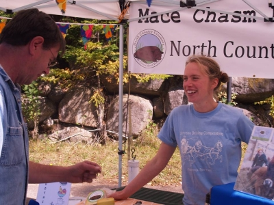 North Country Creamery - talking with a customer at the market