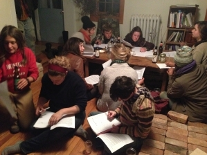 Farmers gathered for a letter-writing event at Chaseholm Farm