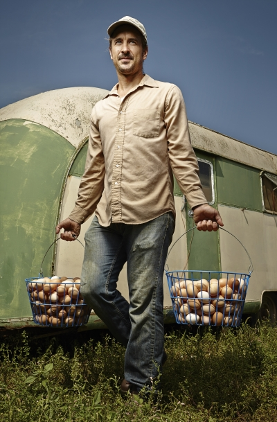 Sawkill Farm - carrying eggs