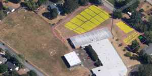 Schoolyard Farms - aerial view of the farm