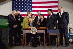 Obama signs farm bill 2