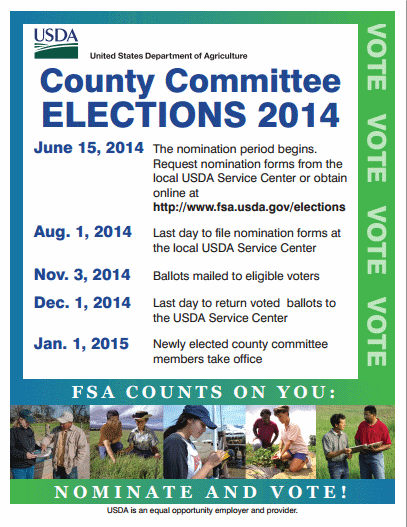 FSA 2014 county committee election poster