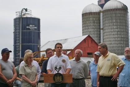 Gov. Cuomo speaking on a farm in Middleburgh, NY in 2011. Photo: Office of Gov. Cuomo