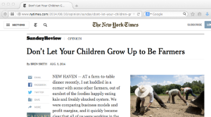 NYT article on farmer financial problems