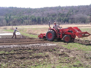 Wild Ridge Farm - training - tractor in field