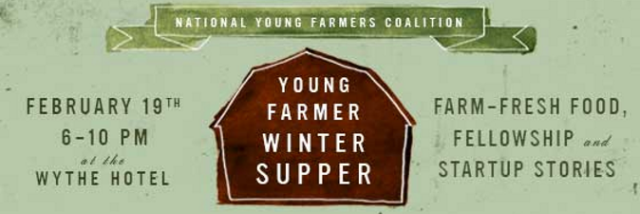 Young Farmer Winter Supper - February 19th in New York City