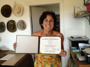 The Golden Yoke - Laura with Diploma - small