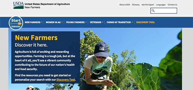 USDA New Farmer site