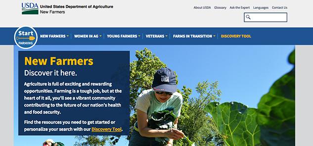 USDA New Farmer site