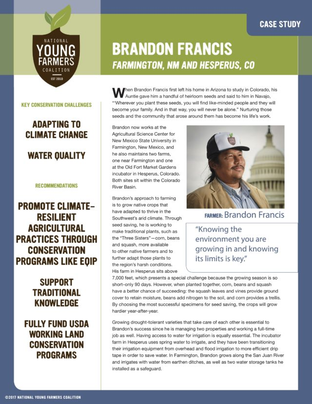On Young Farmers and Water