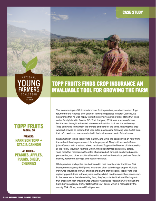 Case Study: Topp Fruits, Paonia, Colorado