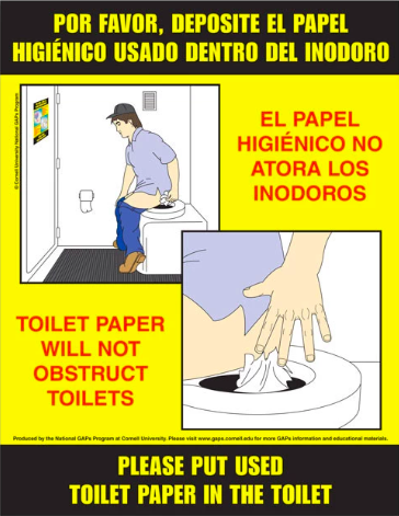 Toilet Paper Disposal Poster