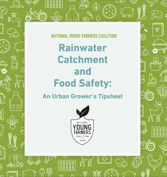 Rainwater Harvesting and Food Safety